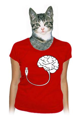 USB mozek dámské tričko