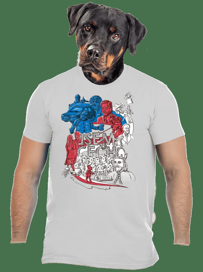 Jsem Čech světle šedé pánské tričko