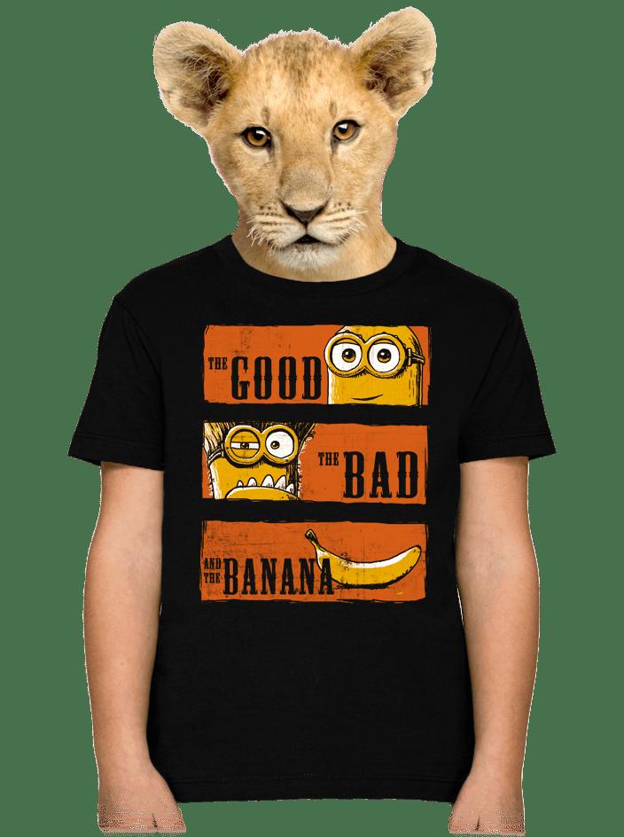 Hodný zlý a banán dětské tričko