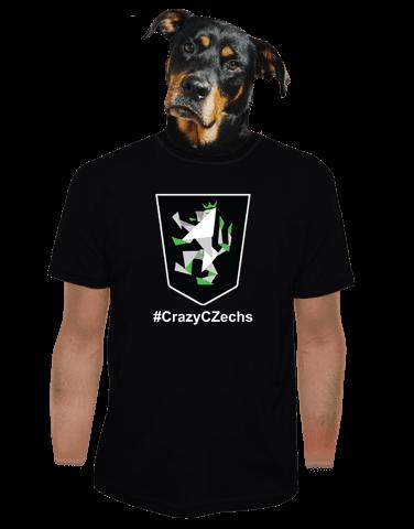 CrazyCZechs černé pánské tričko