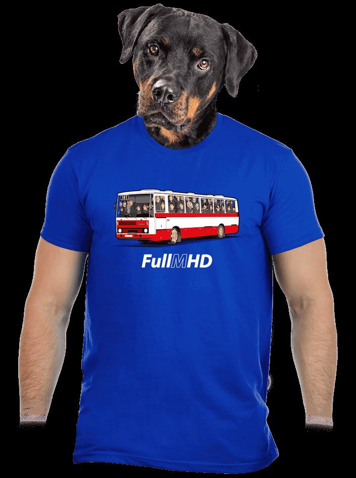 Full MHD modré pánské tričko