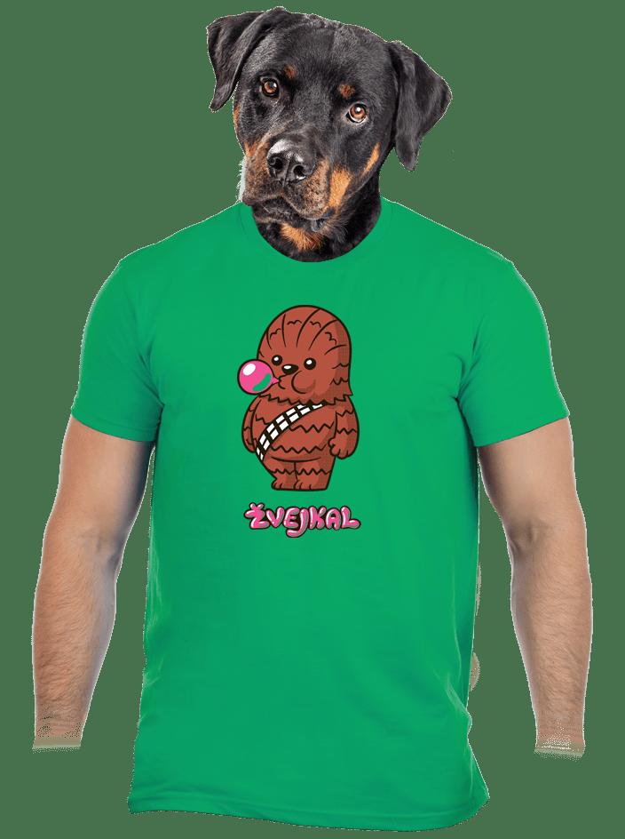 Žvejkal zelené pánské tričko