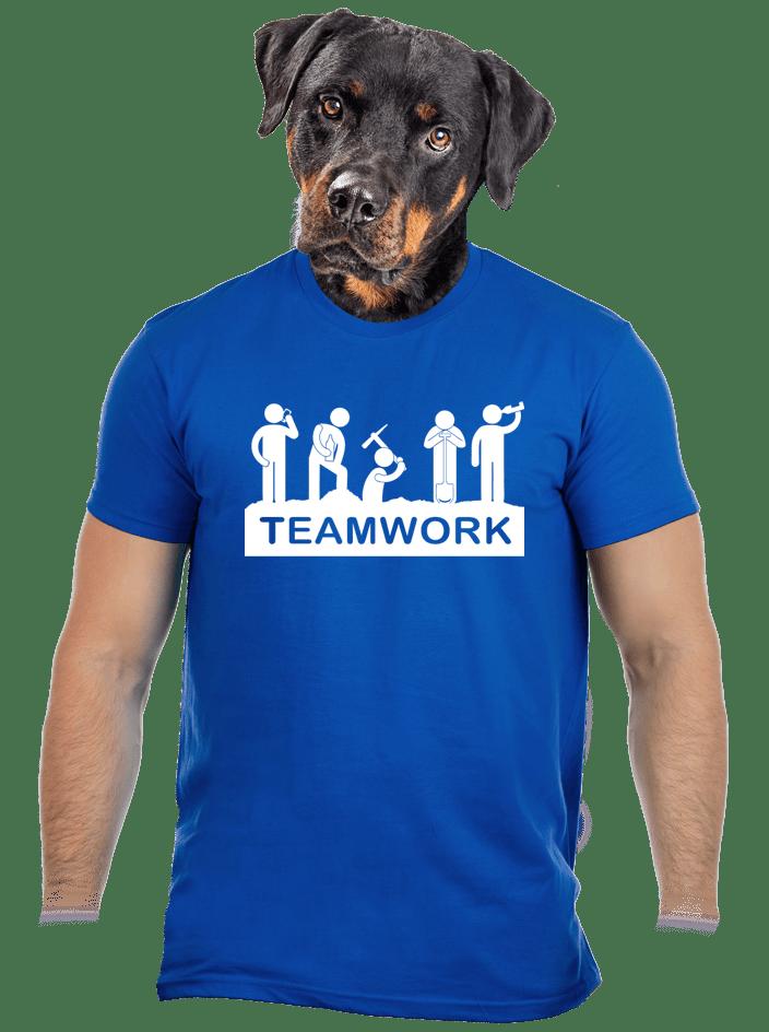 Flákači modré pánské tričko