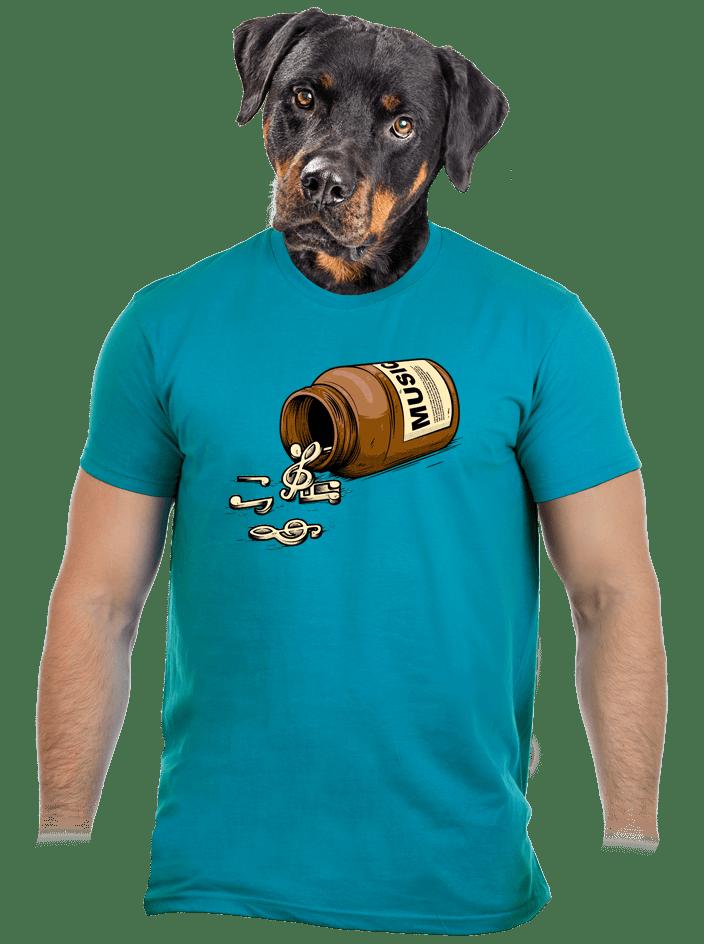 Music pills modré pánské tričko – nový střih