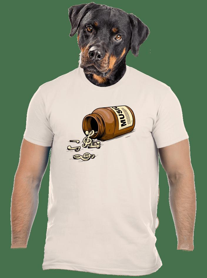 Music pills krémové pánské tričko