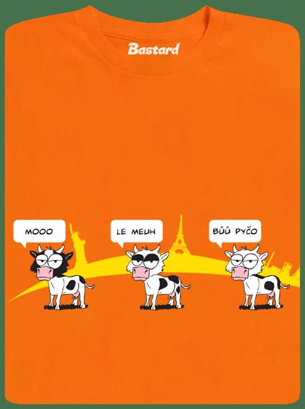 Bastard Ostravačka oranžové pánské tričko