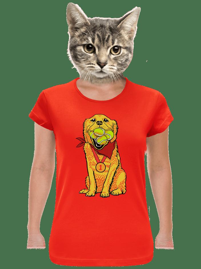 Zlatý retrívr dámské tričko