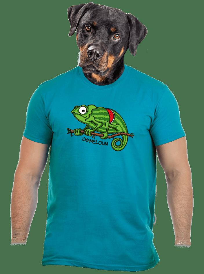 Chameloun modré pánské tričko – nový střih