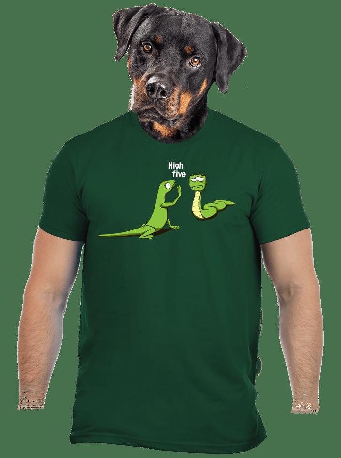 High Five zelené pánské tričko – nový střih