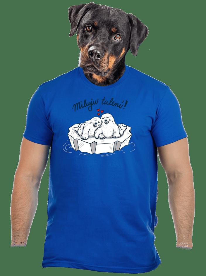 Miluju tulení modré pánské tričko