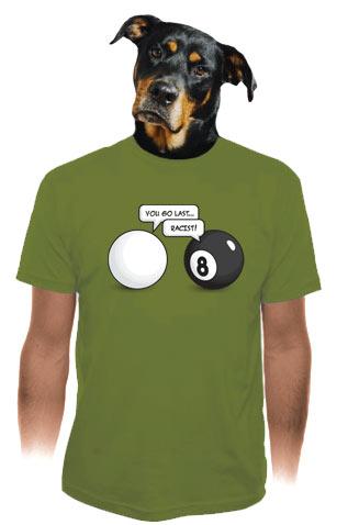 Koule zelené pánské tričko
