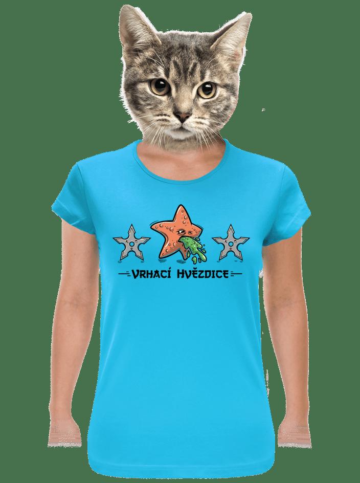 Vrhací hvězdice dámské tričko