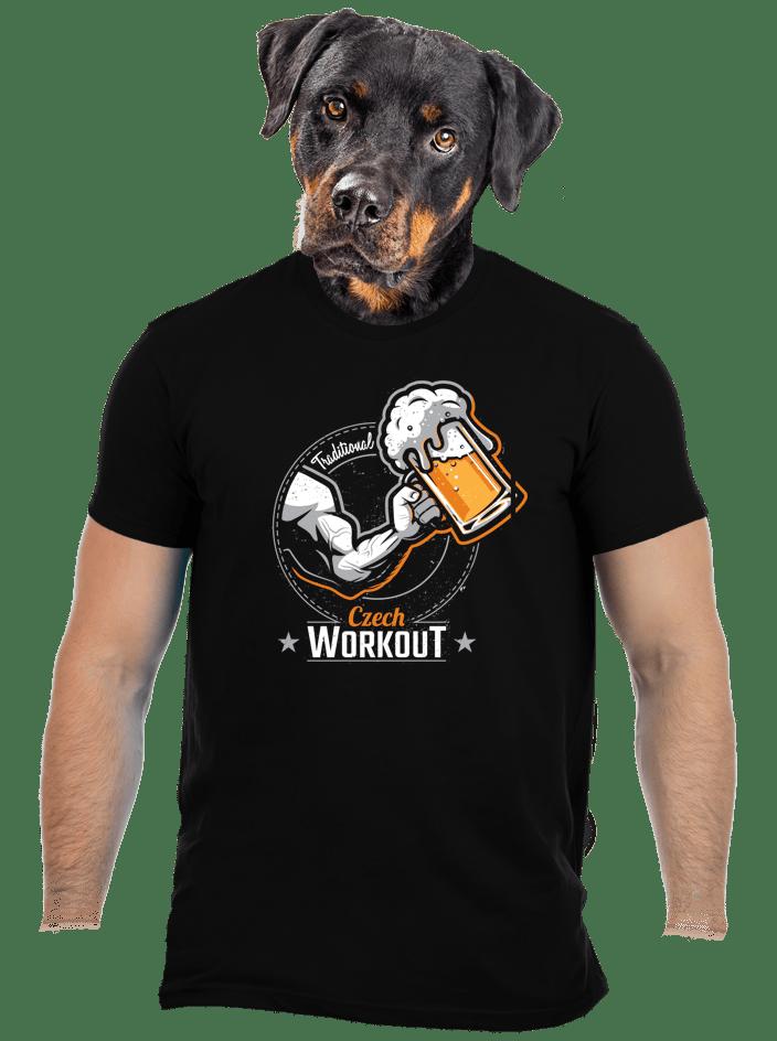 Czech Workout černé pánské tričko