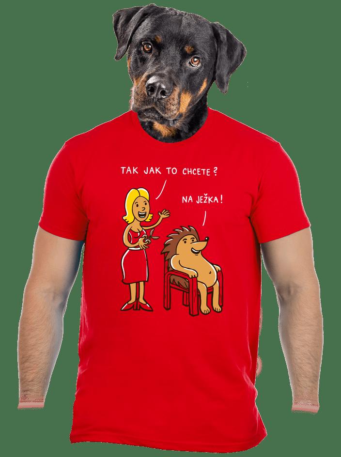 Na ježka pánské tričko