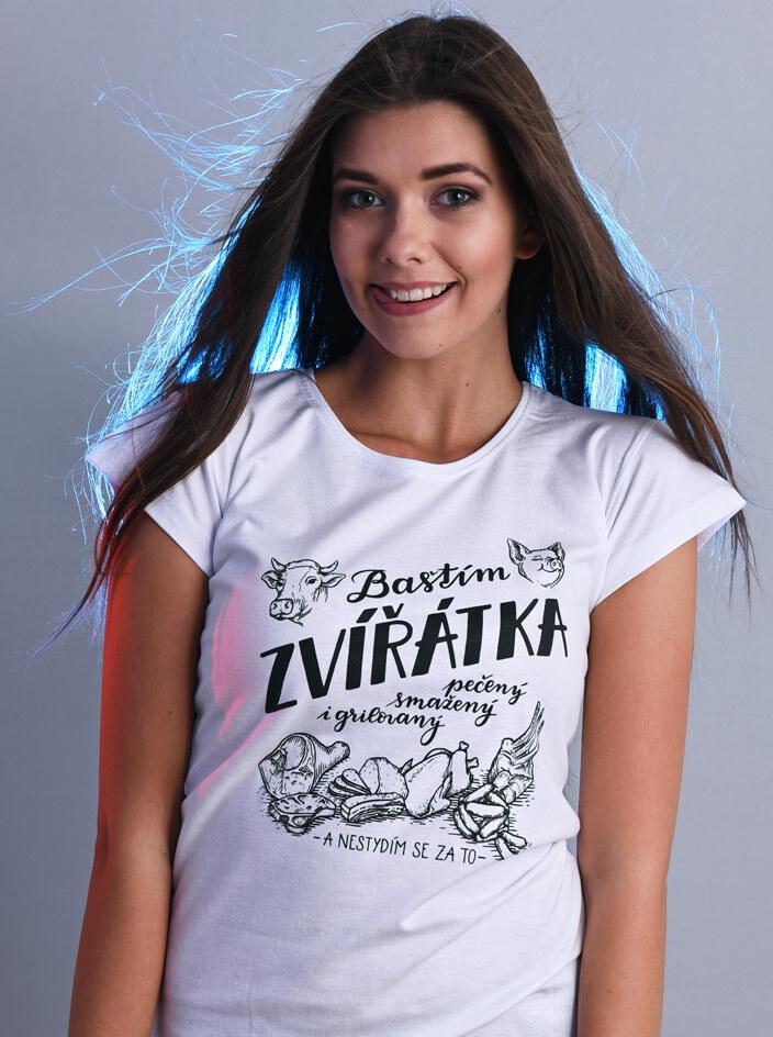 B 12 Baštím zvířátka dámské tričko