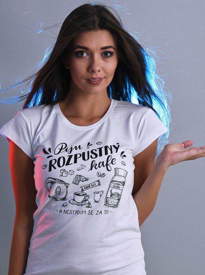 B 12 Piju rozpustný bílé dámské tričko