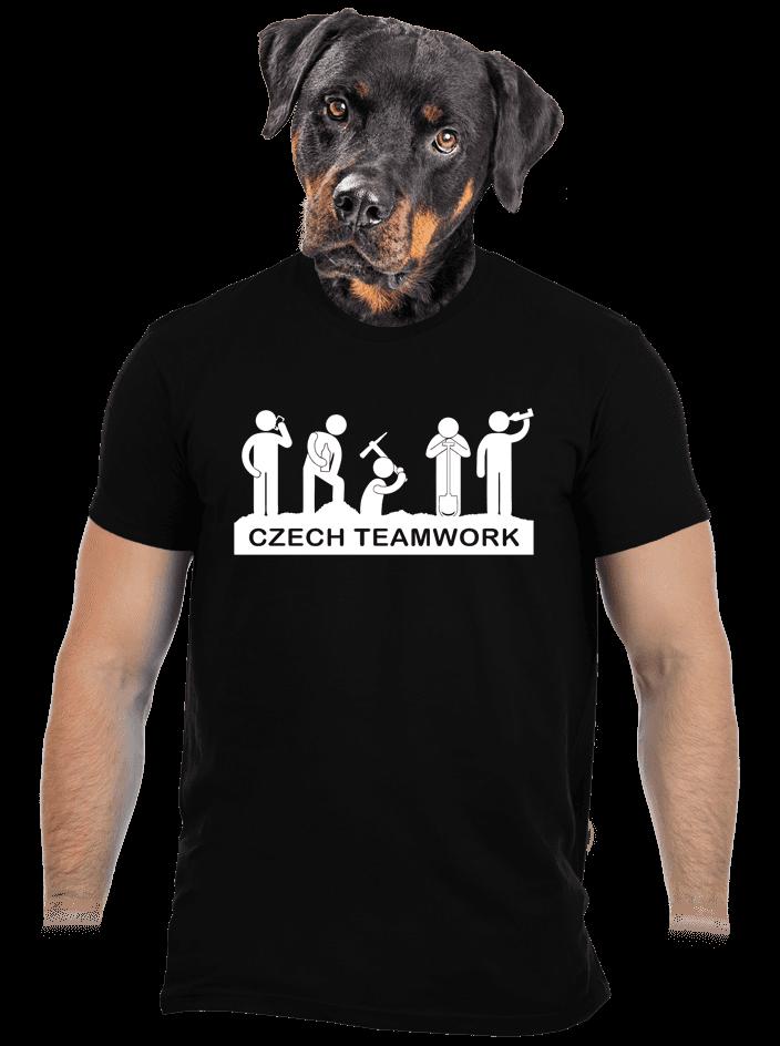 Czech Teamwork černé pánské tričko