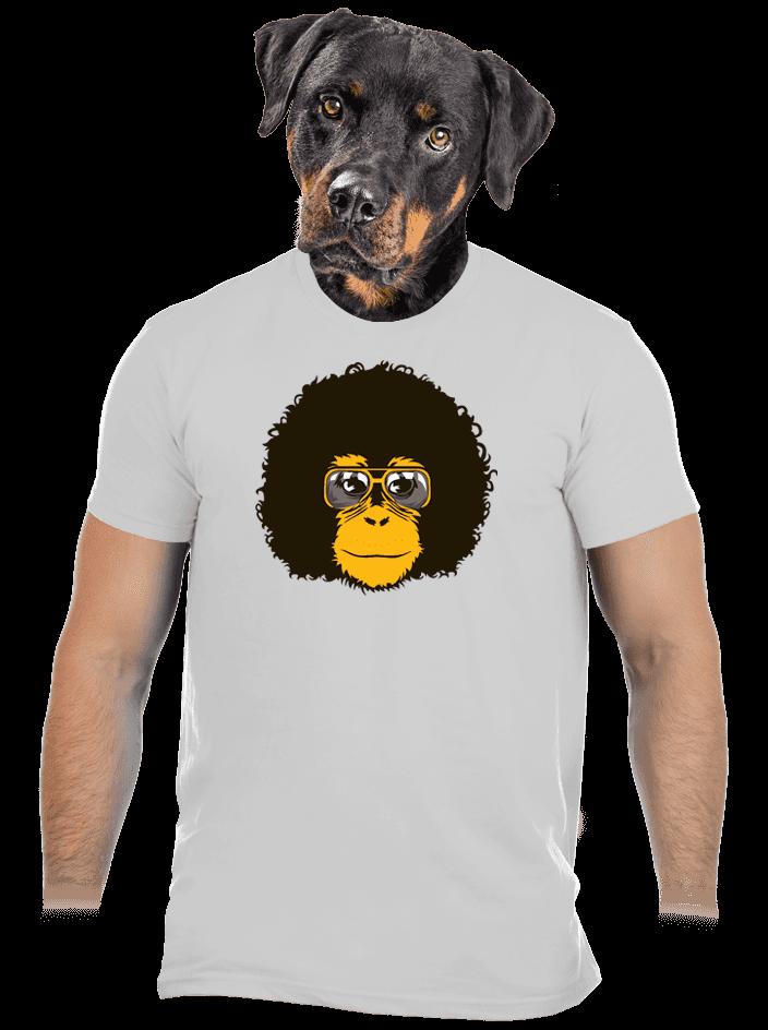 Retro opičák šedé pánské tričko – nový střih