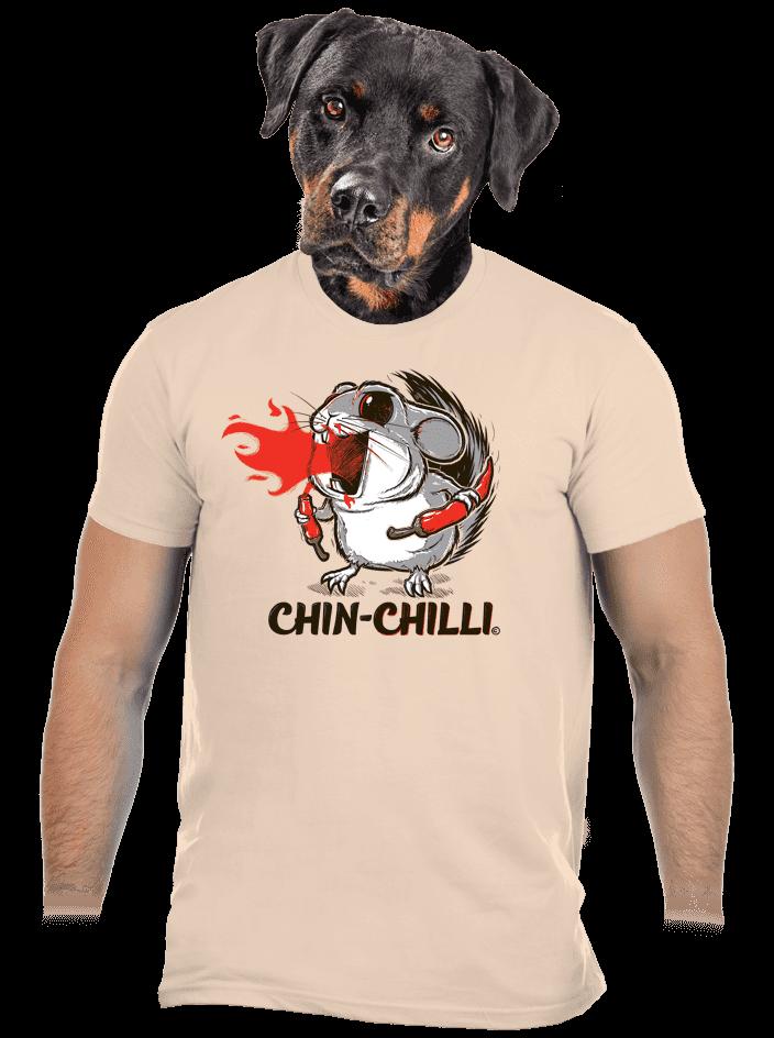 Chinchilli hnědé pánské tričko