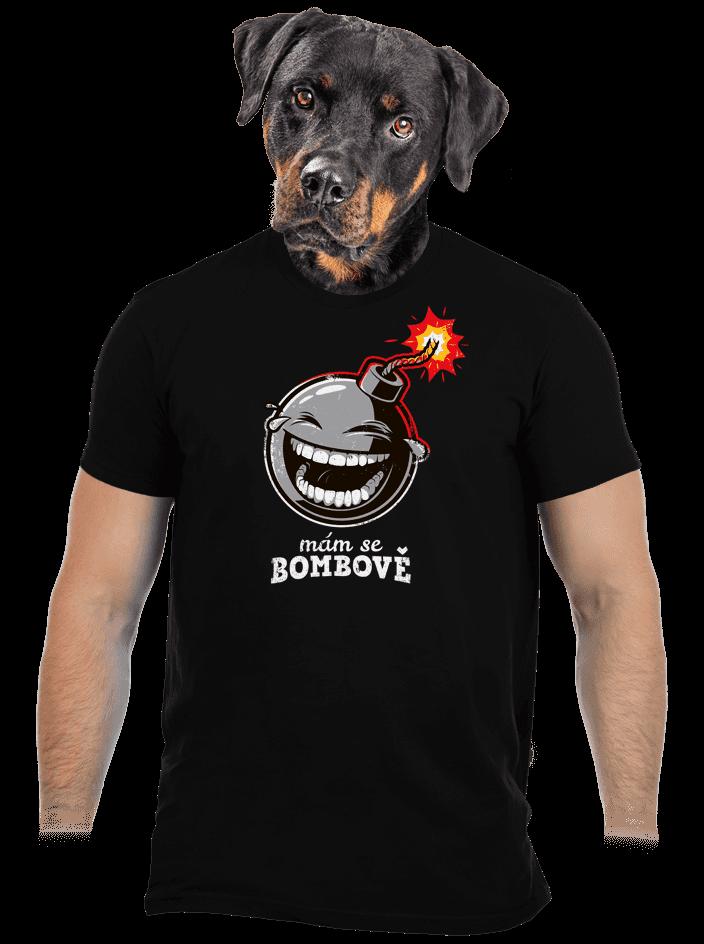 Mám se bombově černé pánské tričko