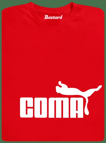 Bastard Coma červené pánské tričko