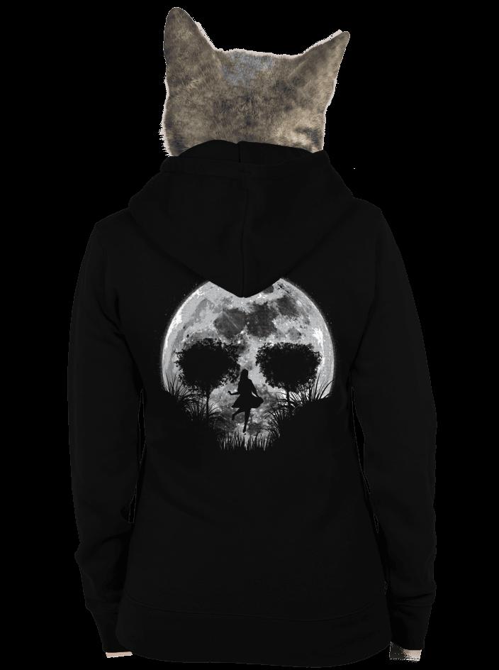 Smrtící úplněk dámská mikina – záda