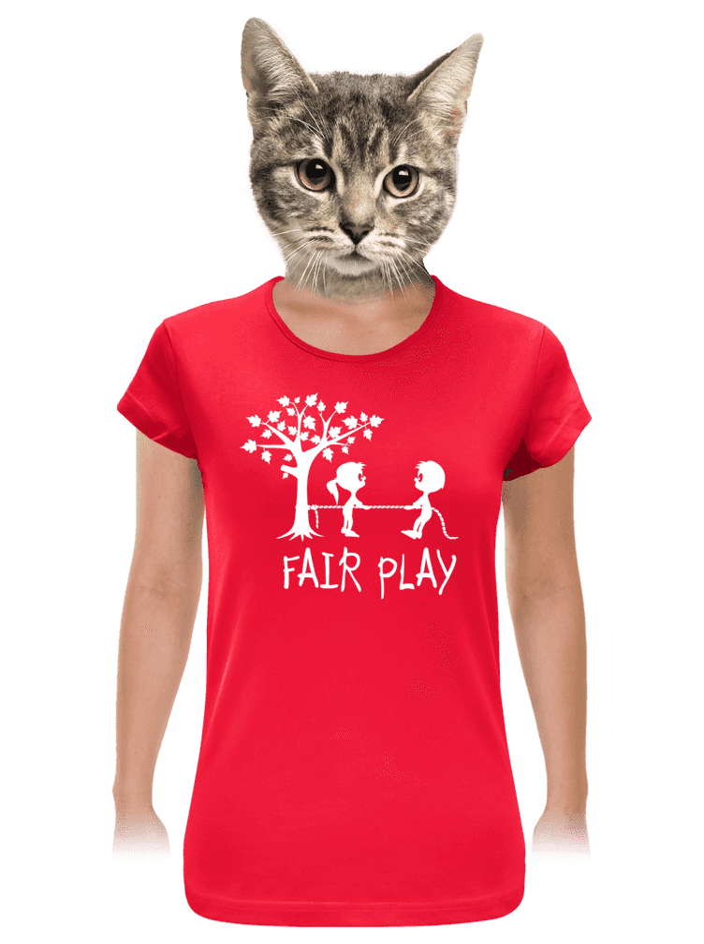 Fair play červené dámské tričko