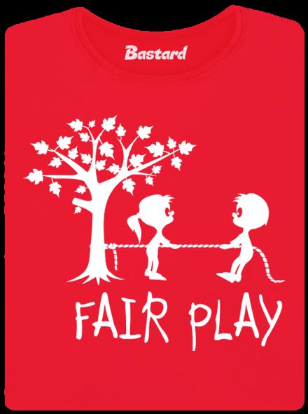 Bastard Fair play červené dámské tričko