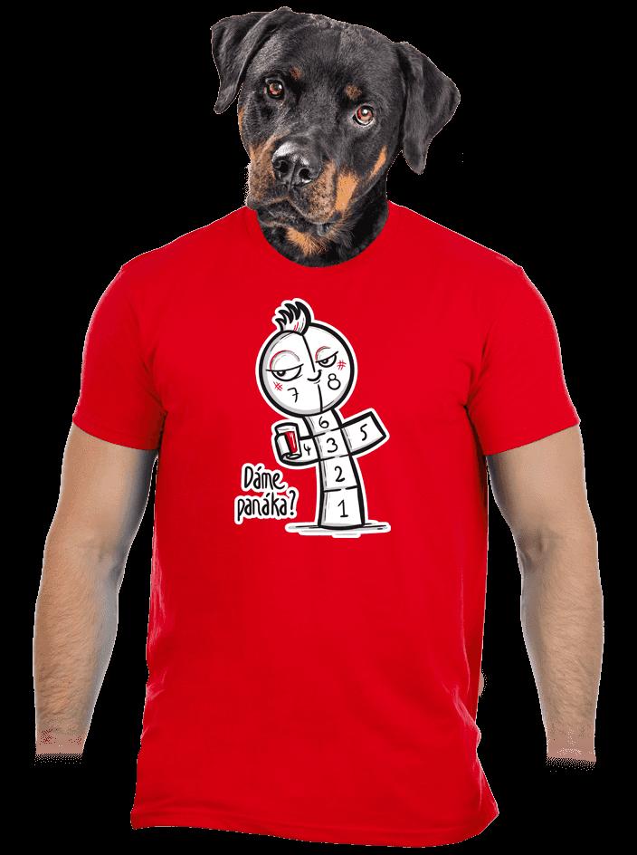 Dáme panáka červené pánské tričko