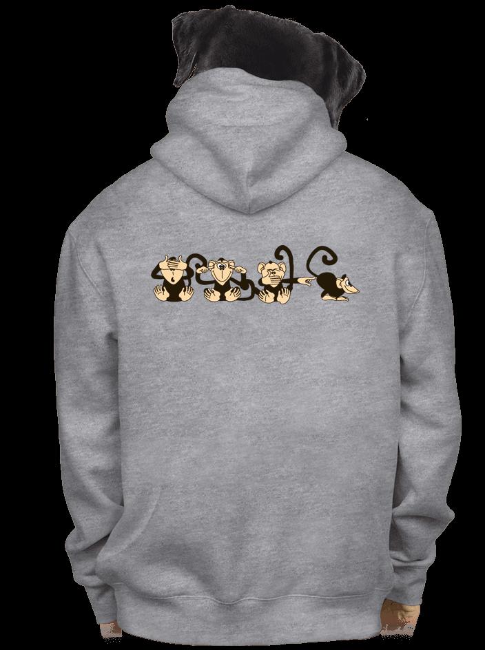 Opice pánská mikina – záda