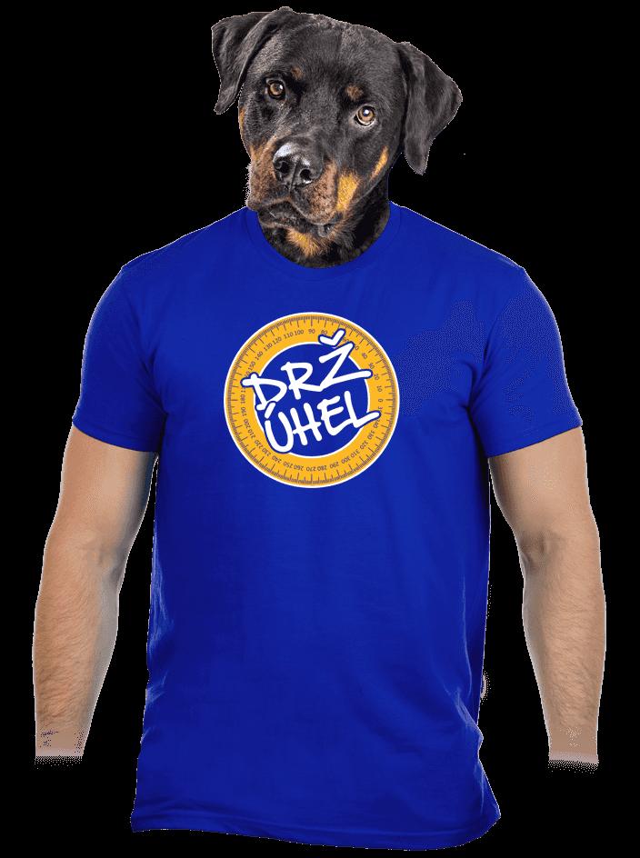 Drž úhel modré pánské tričko