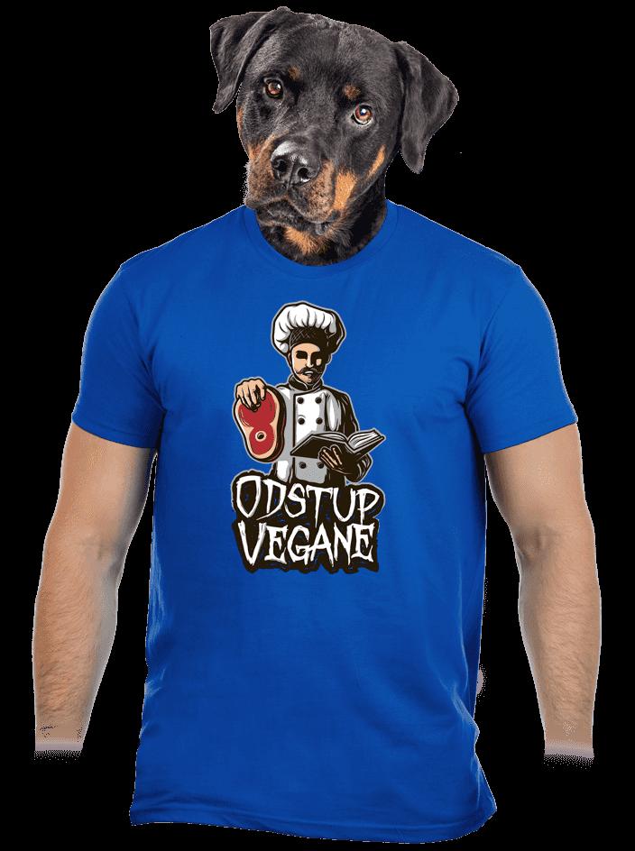 Odstup vegane modré pánské tričko