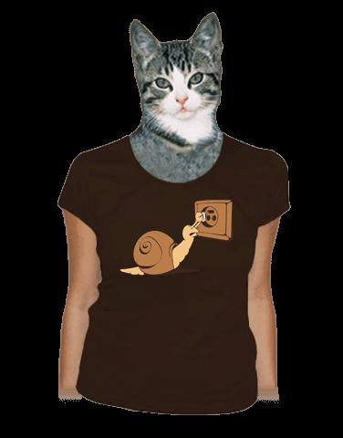 Šmírování hnědé dámské tričko