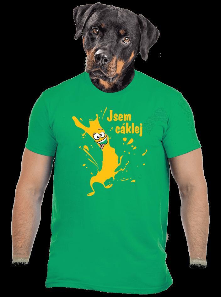 Cáklej zelené pánské tričko