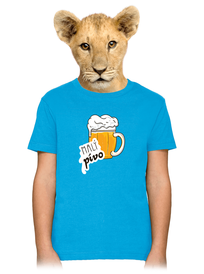 Malý pívo modré dětské tričko
