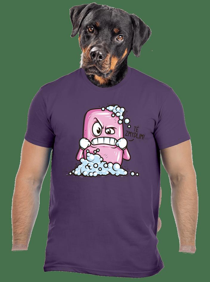 Zmydlím tě fialové pánské tričko