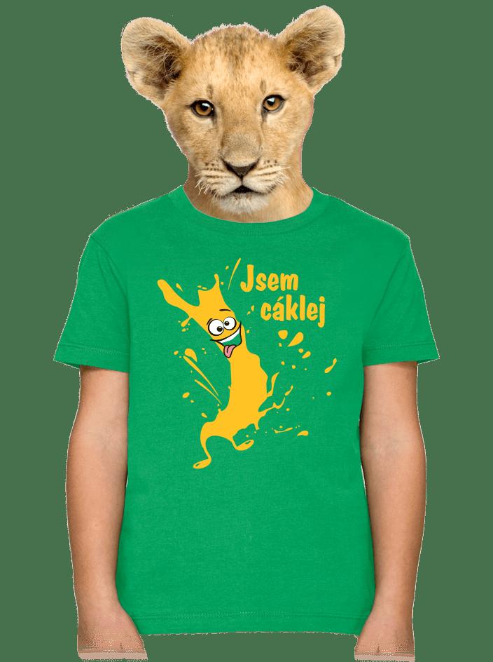 Cáklej zelené dětské tričko