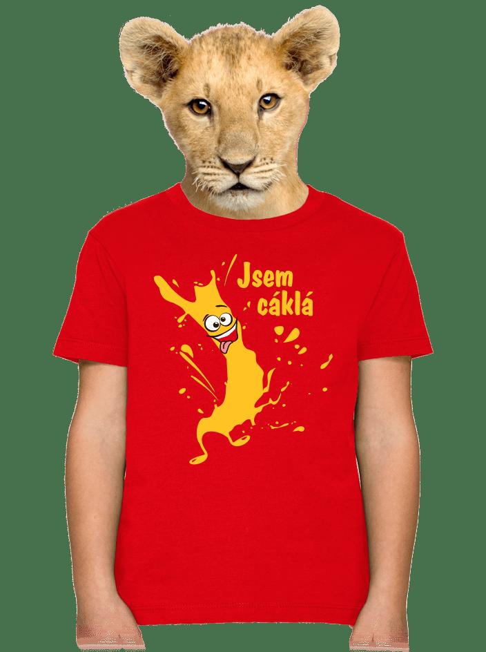 Cáklá červené dětské tričko