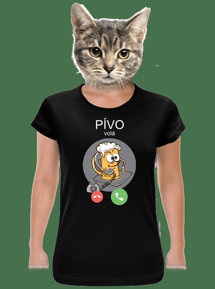 Pívo volá dámské BIO tričko