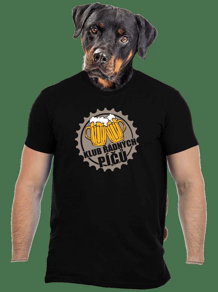 Klub řádných píčů černé pánské tričko