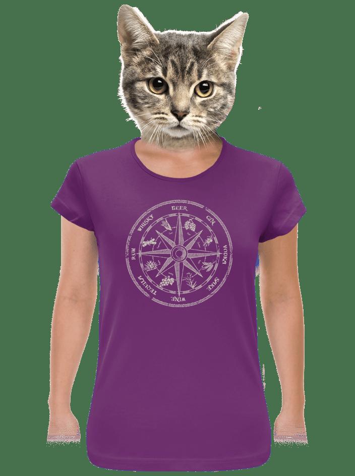 Alkoholický kompas dámské tričko
