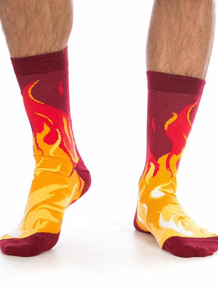 Nohy v plamenech ponožky