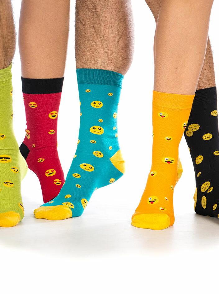 Smajlíci set 5 párů ponožek
