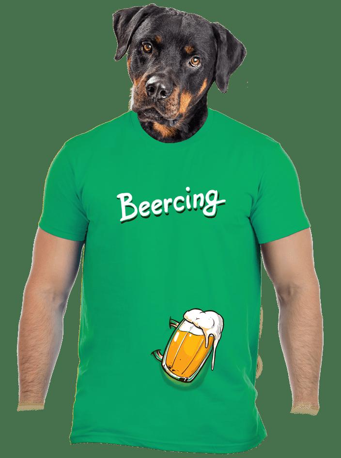 Beercing zelené pánské tričko