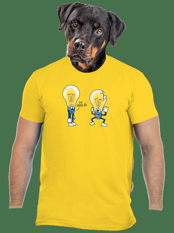 Prdlá žluté pánské tričko