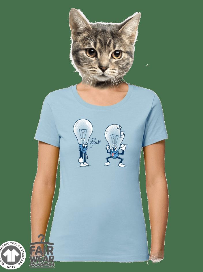 Prdlá modré dámské BIO tričko