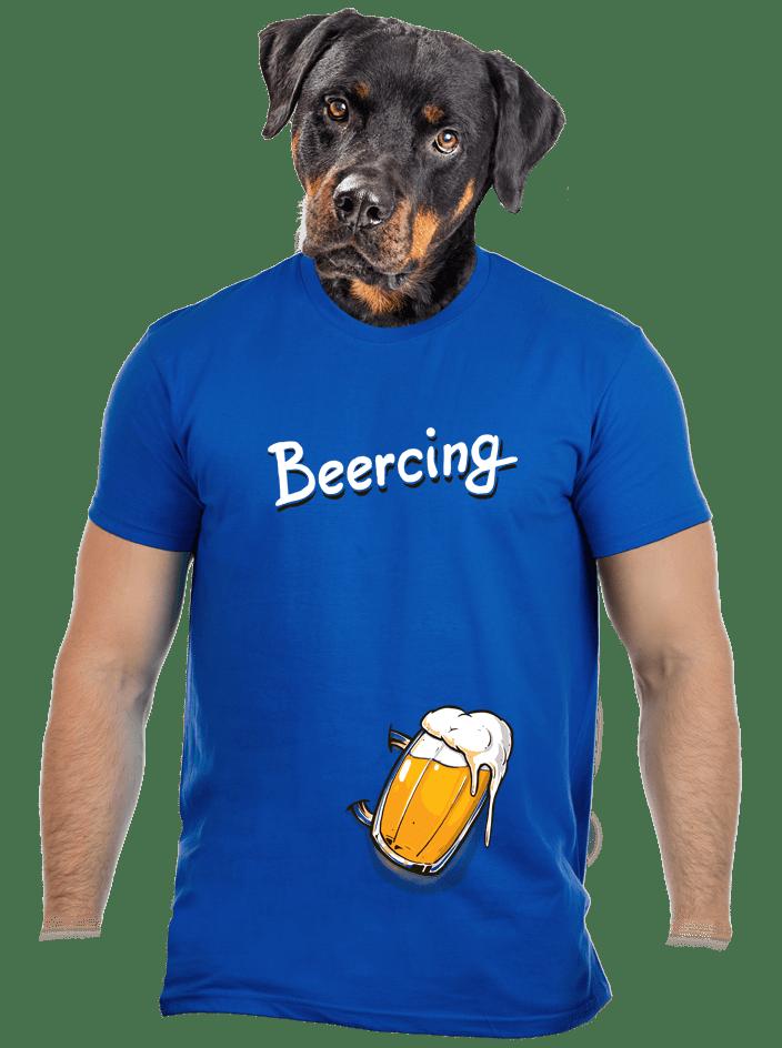 Beercing modré pánské tričko
