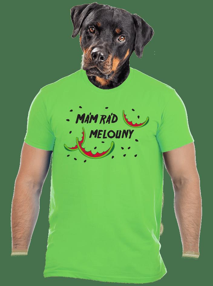 Melouny zelené pánské tričko