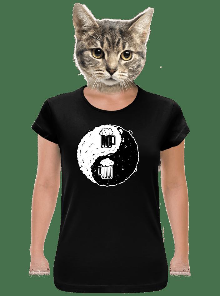 Jin Jang pivo černé dámské tričko