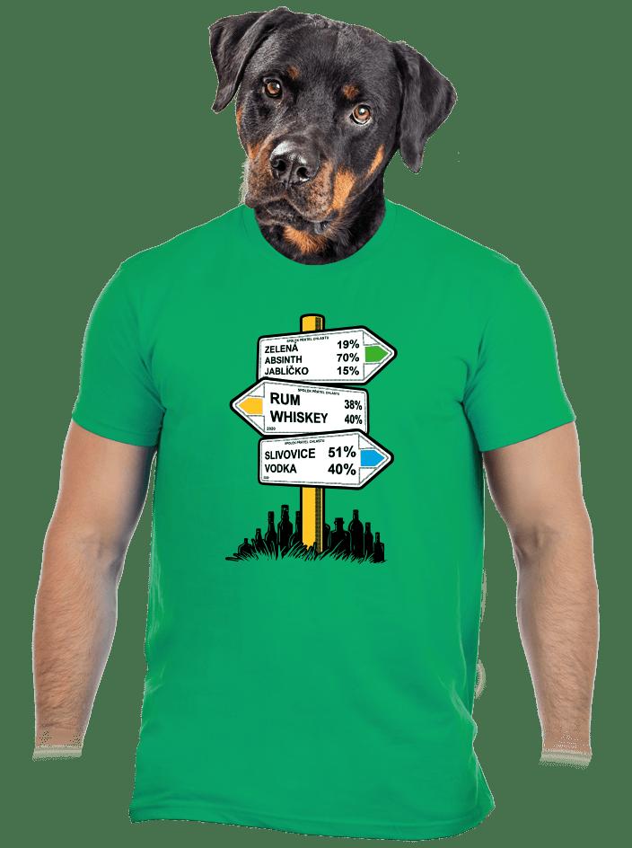 Rozcestník zelené pánské tričko